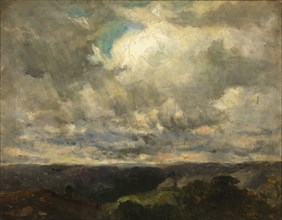 Untitled (landscape, cloudy sky).