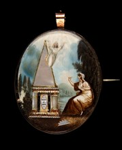 Mourning Pin, 1790s.