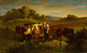 Herdsmen with Cows, 1869.