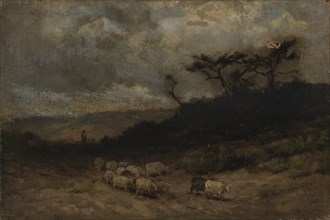 Untitled (shepherd with sheep), 1877.