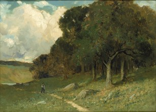Untitled (man on path with trees in background), 1882.