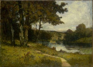 Untitled (landscape, trees near river), 1891.