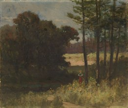 Untitled (landscape with trees and woman), 1894.