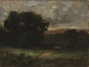 Untitled (landscape with meadow and trees), n.d.