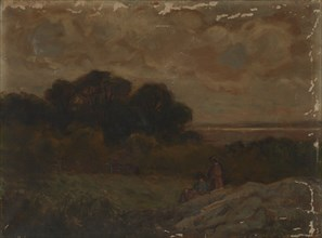 Untitled (Landscape with Two Women Reclining on Rocks).