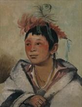 Aú-nah-kwet-to-hau-páy-o, One Sitting in the Clouds, a Boy, 1831.