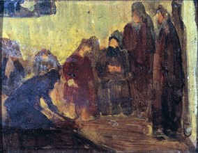 Study, Christ Washing the Feet of the Disciples, ca. 1905.