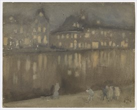 Grand Canal, Amsterdam; Nocturne, 1882.
