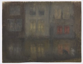 Nocturne: Black and Red?Back Canal, Holland, 1882.