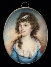 Mrs. John McCluney, ca. 1795. [Possibly a portrait of Elizabeth Purviance, who married Major John McCluney of Pennsylvania in 1804, or it may represent Isabella Shearer of Virginia, who married a John...