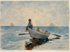 Boys in a Dory, 1880.