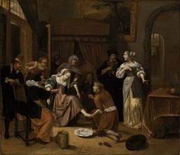 The Doctor's Visit, 17th century.