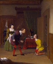 The Merry Wives of Windsor: Dr. Caius, Simple and Dame Quickly, 1830.