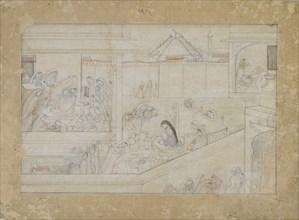 Wedding Preparations: folio from a Nala-Damayanti series, 1775-1800.