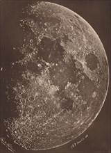 Photographie de la lune a son 1er Quartier, March 6, 1865.