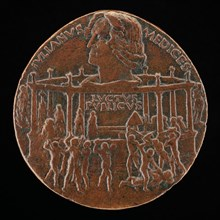 The Murder of Giuliano I de' Medici (The Pazzi Conspiracy Medal) [reverse], 1478.