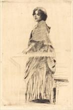 Woman in a Cape (La femme à la pèlerine), 1889.