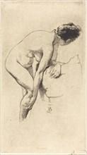 Nude Holding Her Leg (Femme nue se tenant la jambe), 1886.