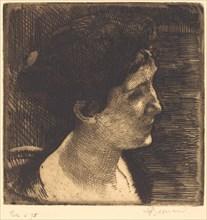Woman in Full Profile (Grand profil de femme), 1892.