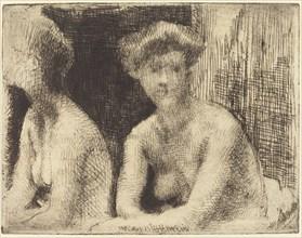Nude Woman by a Looking Glass (Femme Nue Auprès d'une Glace), 1889.