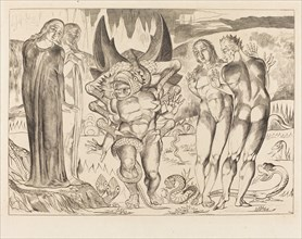The Circle of the Thieves; Agnolo Brunelleschi Attacked by a Six-Footed Serpent, 1827.