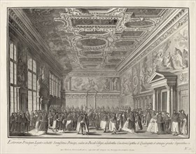 Reception by the Doge of Foreign Ambassadors in the Sala del Collegio, 1763/1766.