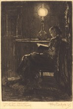 Liseuse à la Lampe (Woman Reading by Lamplight), 1879.