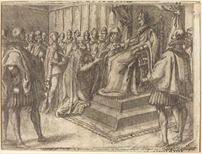 Reception of the Envoy of Poland [recto], 1612.