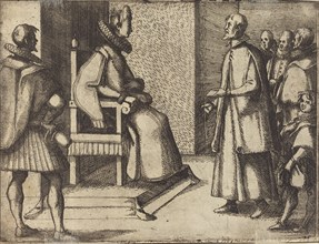 The Envoy of Tuscany thanking the Queen [verso], 1612.