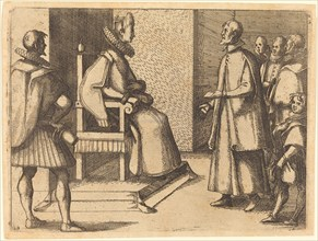 The Envoy of Tuscany thanking the Queen, 1612.