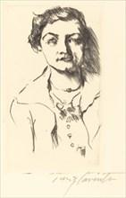 Bildnis einer Jungen Dame - Anneliese Halbe (Portrait of a Young Woman - Anneliese Halbe),1918.