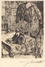 Interieur mit Stehlampe (Interior with Floor Lamp), 1916.