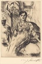 Interieur mit Frau (Interior with Woman), 1917.