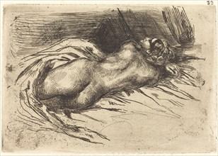Study of a Woman, Viewed from the Back (Étude de femme vue de dos), 1833.