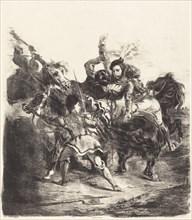 Weislingen Attacked by the Forces of Goetz (Weislingen attaqué par les gens de Goetz), 1836.