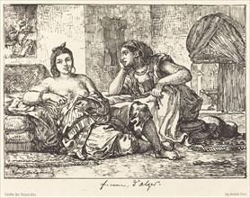 Femmes d'Alger, 1833.