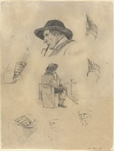 Sheet of Sketches, 1877.