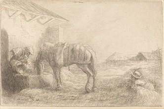 Man Watering a Horse (Homme abreuvant un cheval).