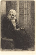 Woman Seated against a Wall, Child with His Head in Her Lap (Femme assis, muraille au fond, enfant la tete dans son giron).