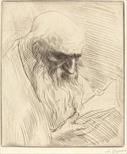 Study of the Head of a Man Reading (Etude de tete d'homme lisant).