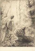 Death and the Woodcutter, 2nd plate (La mort et le bucheron).