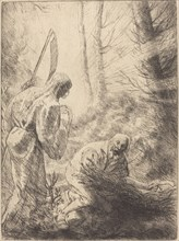 Death and the Woodcutter, 2nd plate (La Mort de le bucheron).