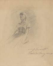 Seated Young Woman [recto], 1889.