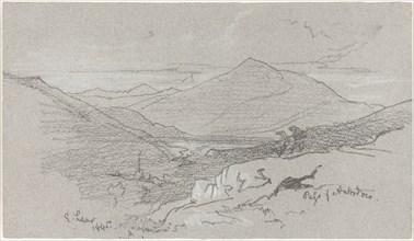 Mountainous View from Antrodoco, 1845.