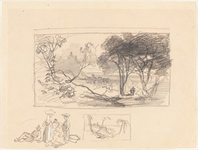 Sketches in Italy [recto], 1839/1845.