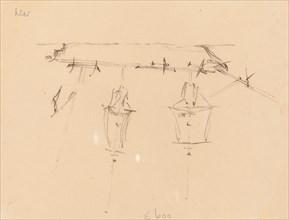 A Sailing Ship [verso], 1839/1845.