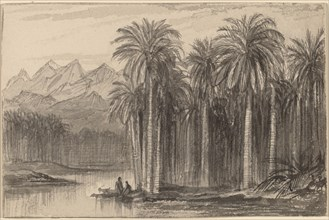 Figures Setting Out in Canoes from a Palm Grove (Wady Feiran), 1884/1885.