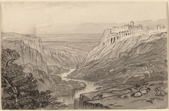 Goats Resting above a River Gorge (Narni, Italy), 1884/1885.