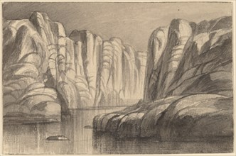 River Winding through a Rock Formation (Philae, Egypt), 1884/1885.