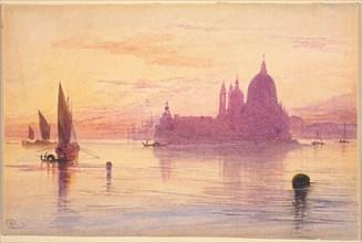 Santa Maria della Salute, Venice, at Sunset, 1865/1884.